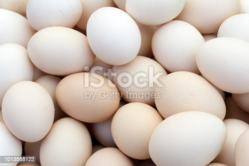 Background of chicken eggs