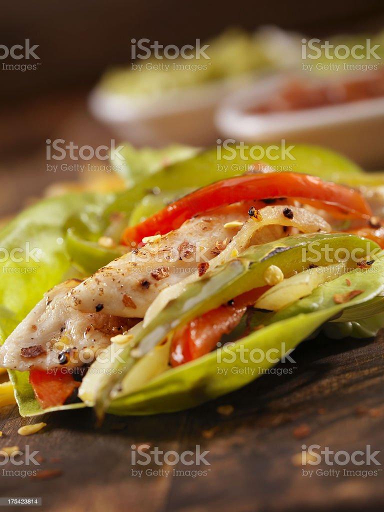 Chicken Fajita Lettuce Wrap royalty-free stock photo