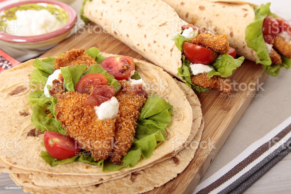 Chicken fajita stock photo