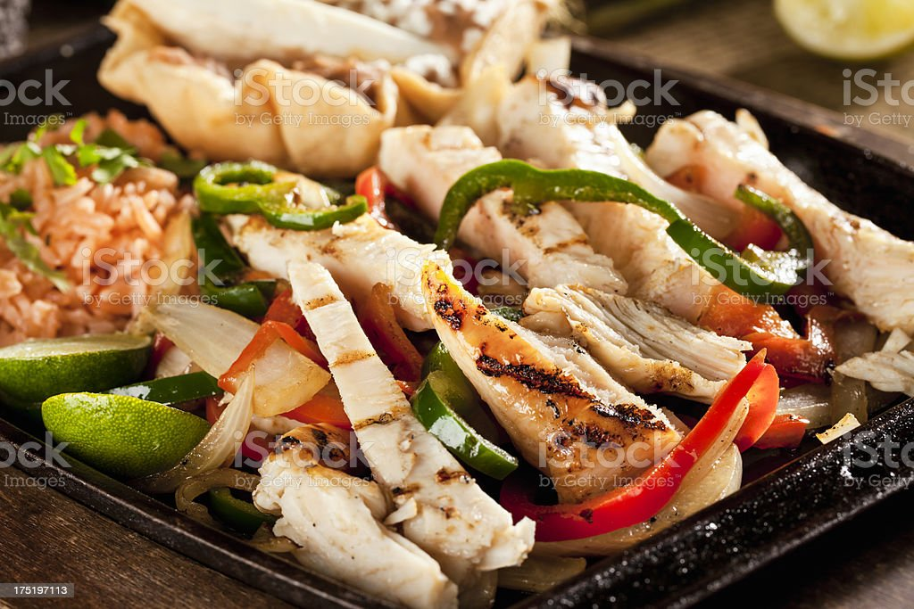 Chicken Fajitas royalty-free stock photo