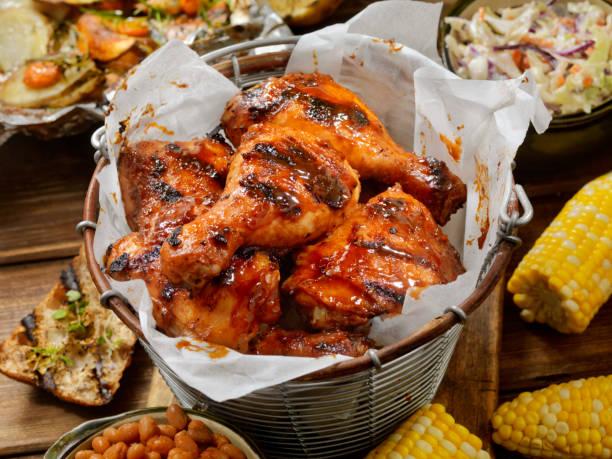 BBQ Chicken Feast stock photo