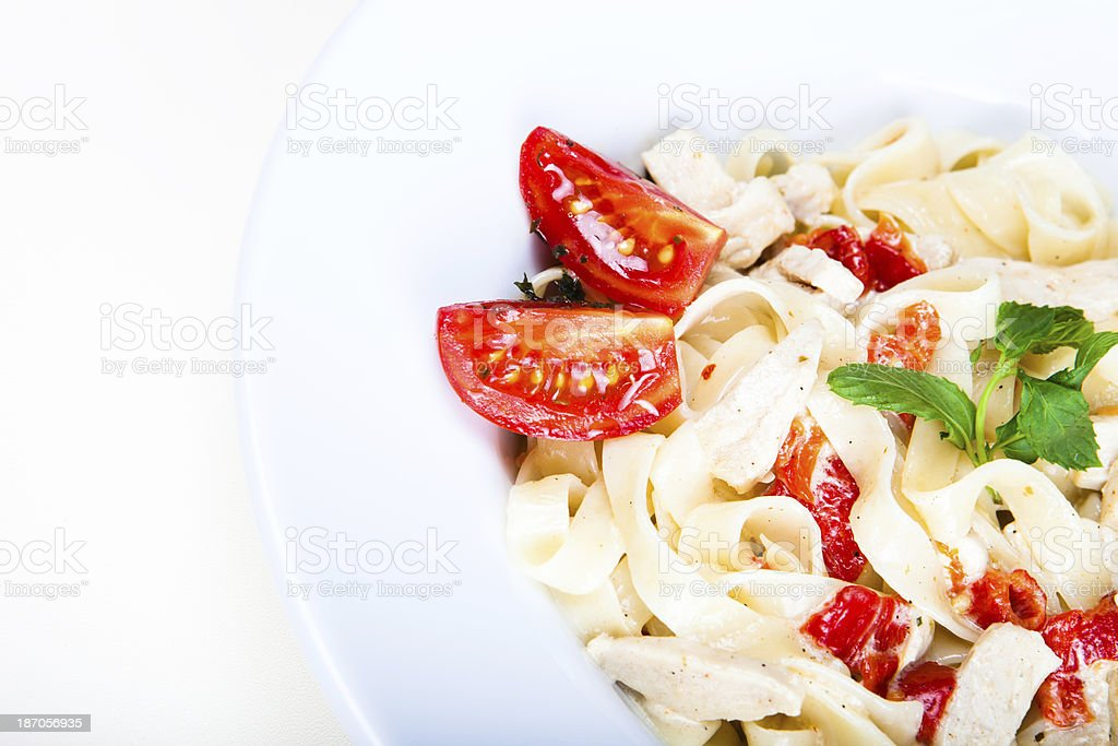 Chicken Fettuccine Alfredo royalty-free stock photo
