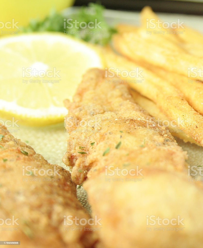 Chicken Fingers and Fries royalty-free stock photo