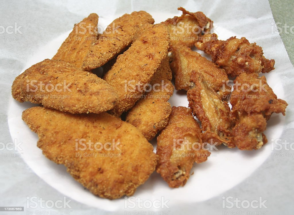 Chicken Fingers & Wings royalty-free stock photo