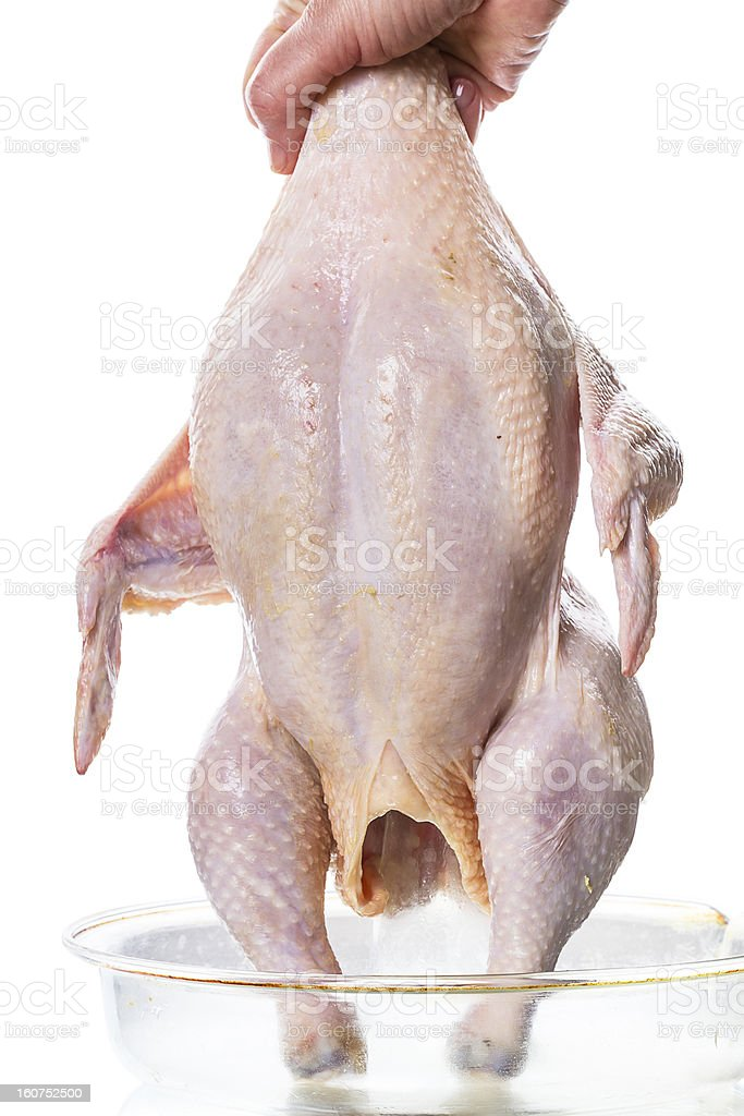 RAW chicken for grilling royalty-free stock photo