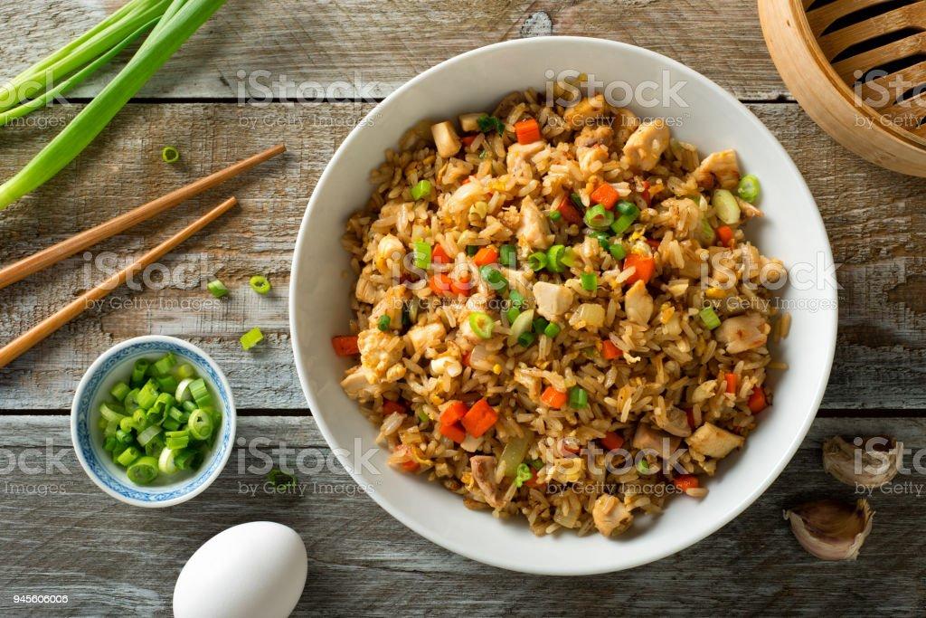 Chicken Fried Rice stock photo