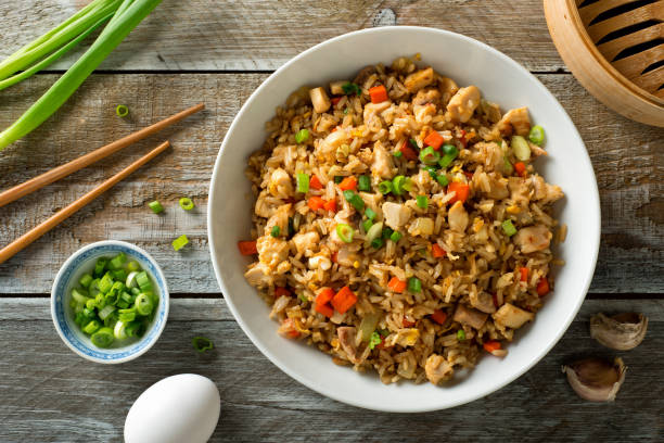 Chicken Fried Rice stock photo