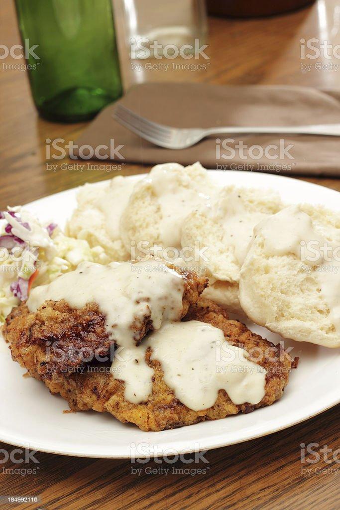 Chicken fried steak stock photo