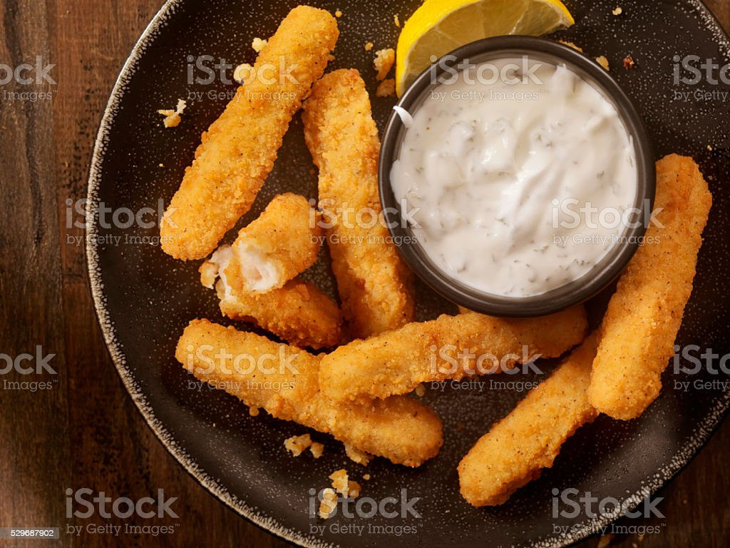 Chicken Fries with Ranch Dip stock photo