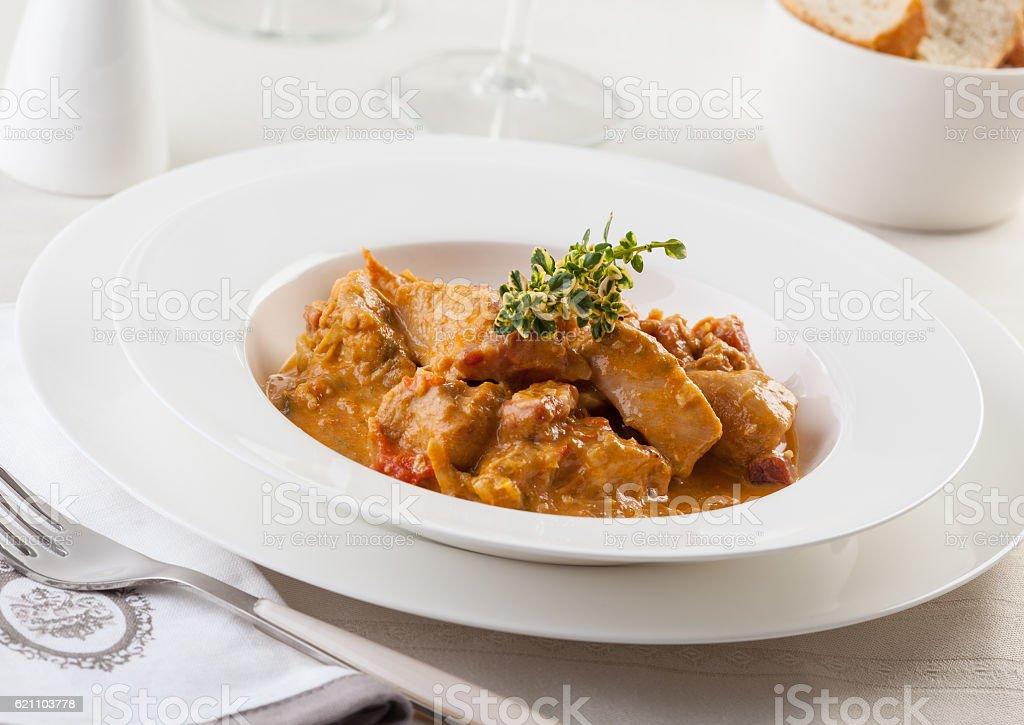 Chicken goulash stock photo