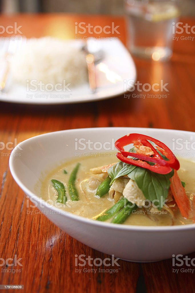 Chicken green curry, Thai food. royalty-free stock photo