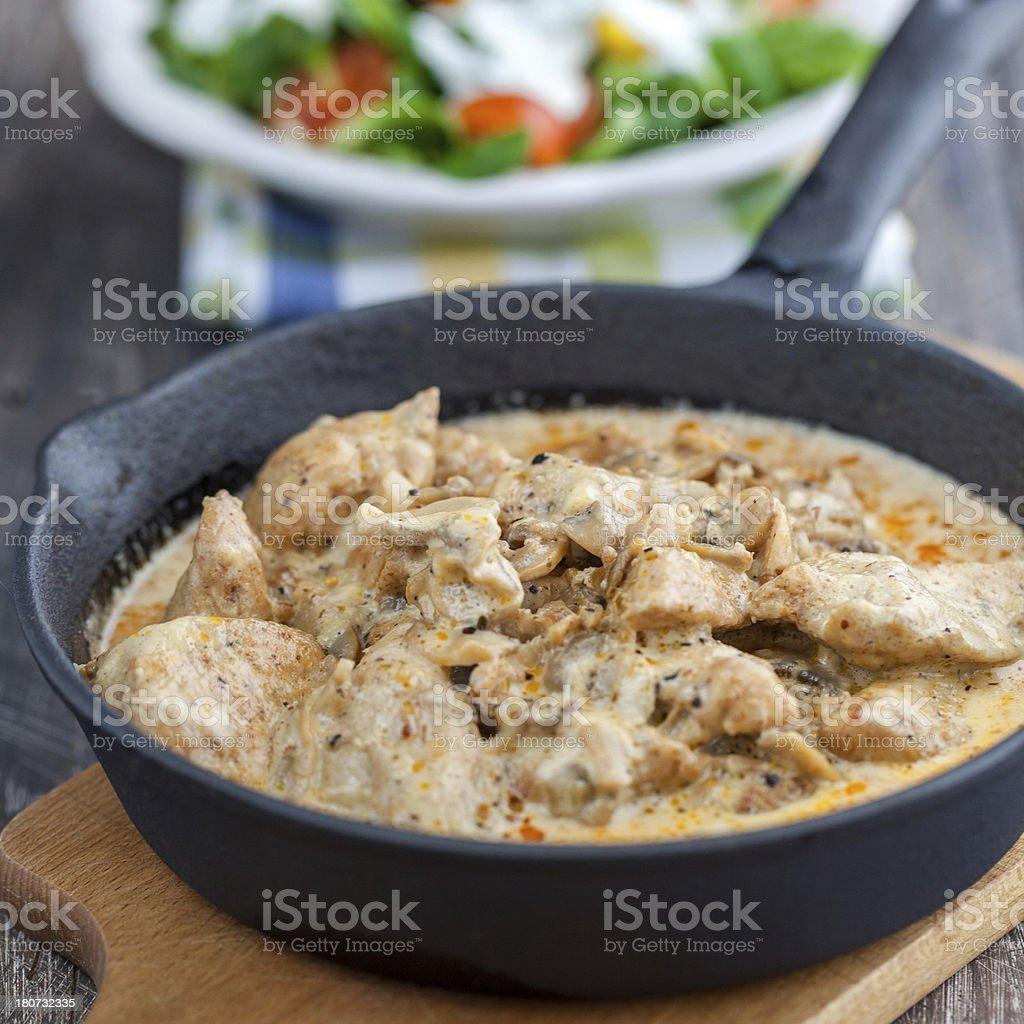 Huhn in Creme-sauce – Foto