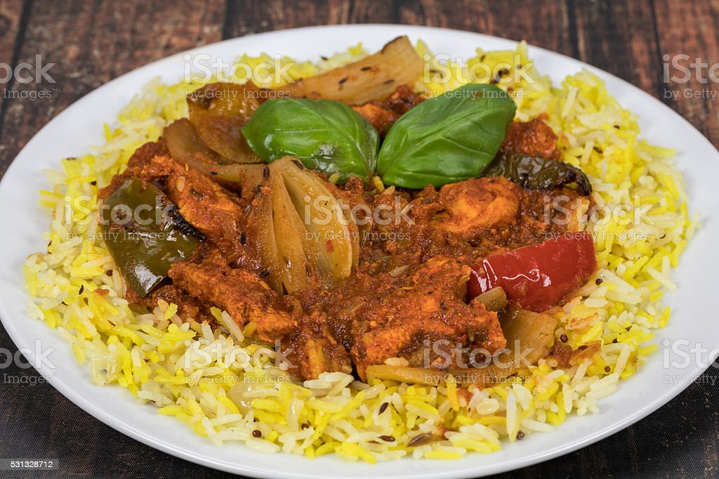 Chicken Jalfrezi stock photo