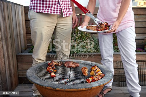 696841580istockphoto Chicken kebab barbecue party 466287830