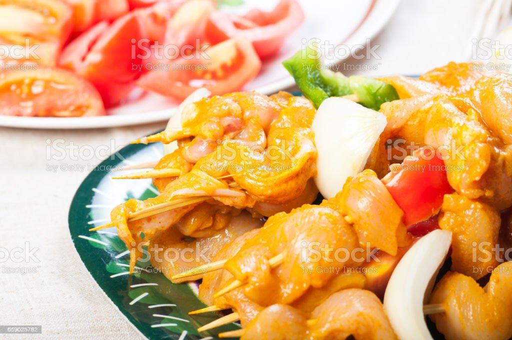 chicken kebab royalty-free stock photo