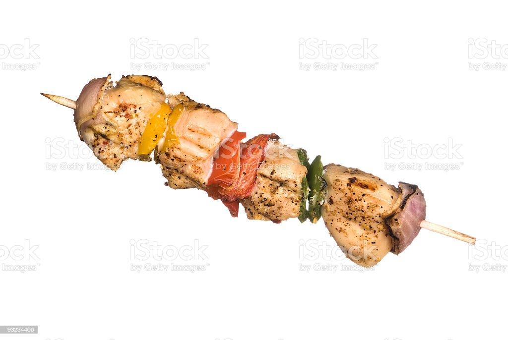 Chicken kebob stock photo