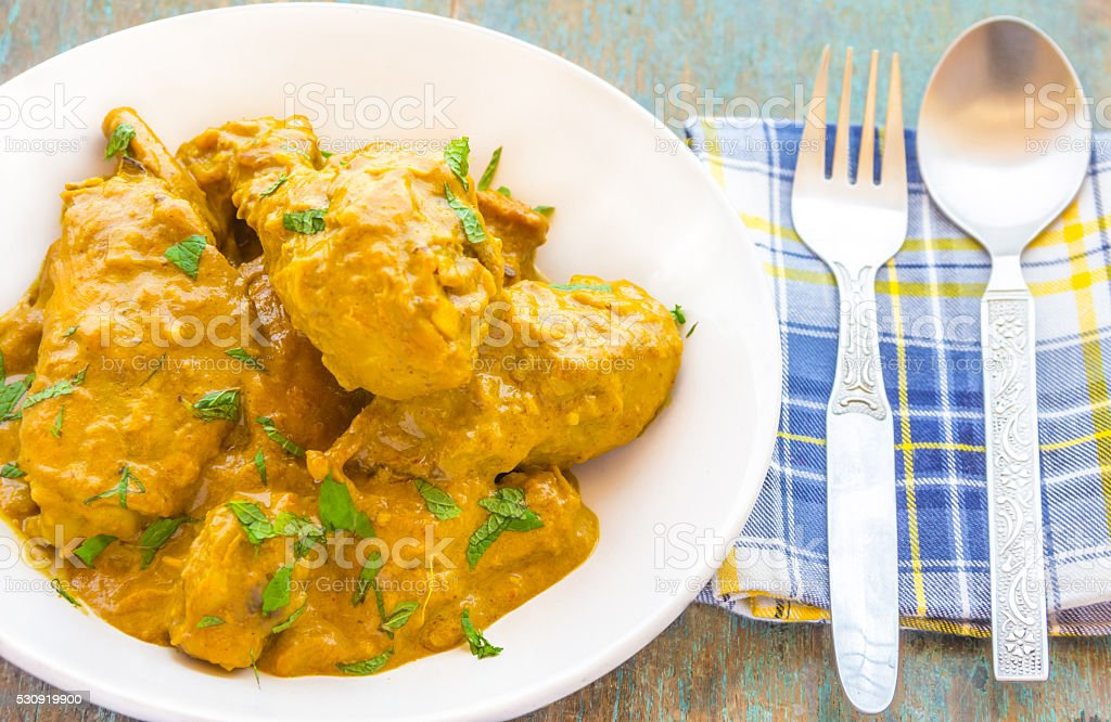 Chicken Korma Curry stock photo