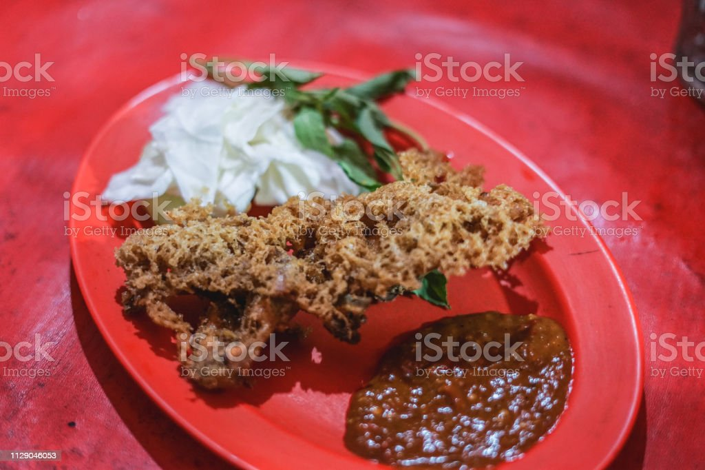 Ayam Kremes / Indonesia Crispy Chicken stock photo