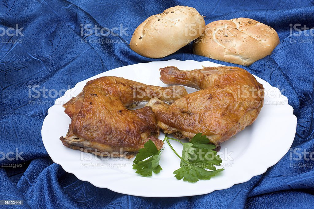 Chicken leg royalty-free stock photo