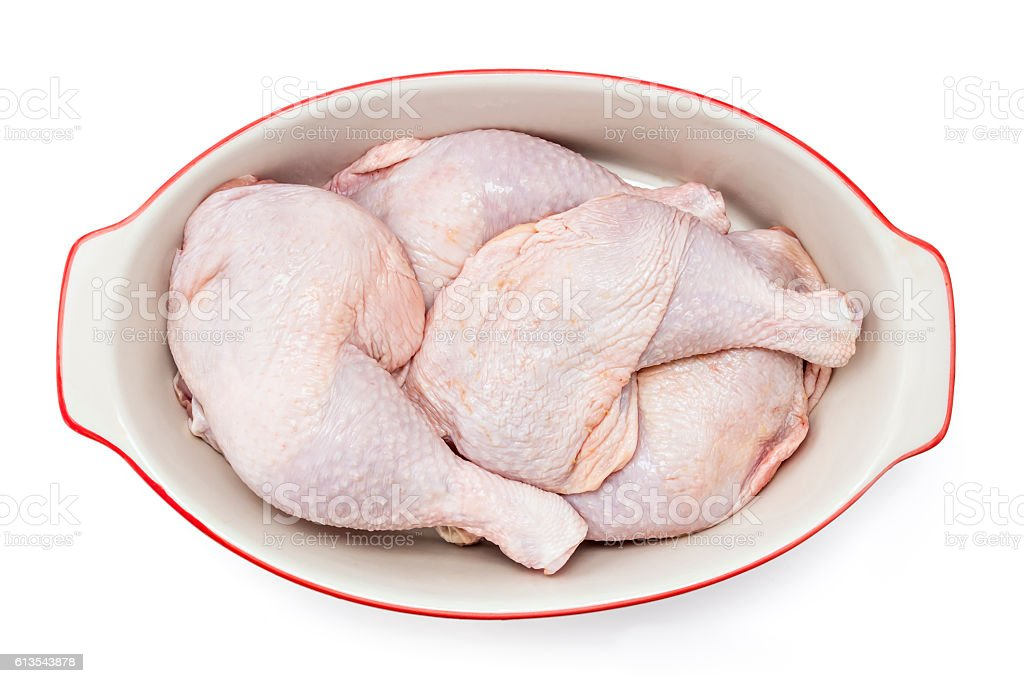 Chicken leg quarter stock photo