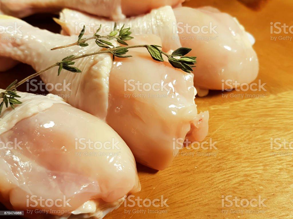 chicken legs raw stock photo