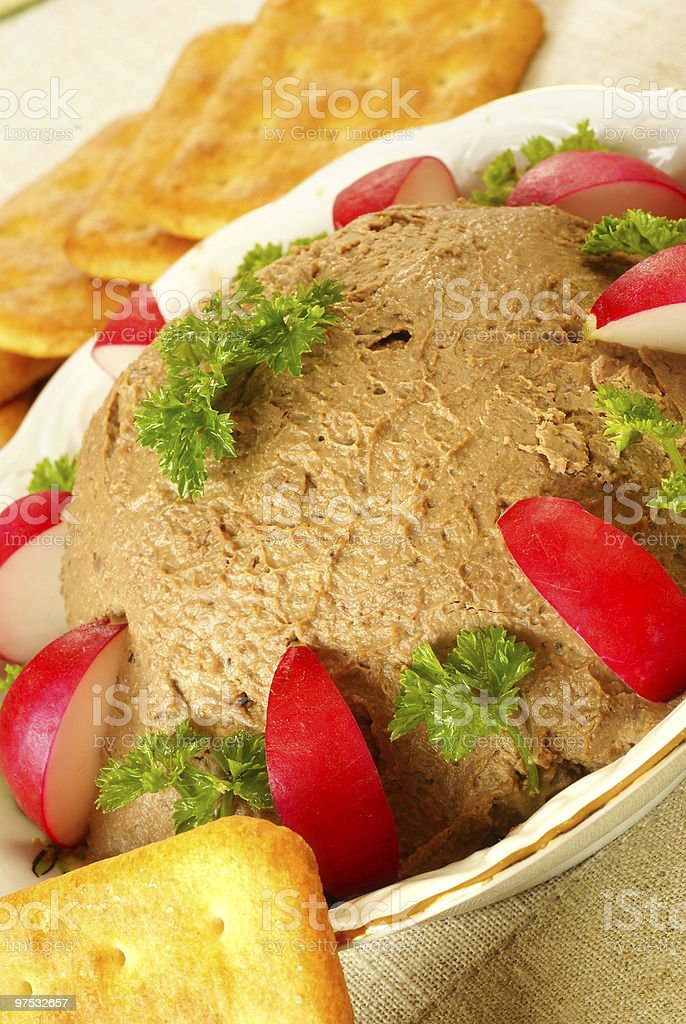 Chicken liver pate royalty-free stock photo