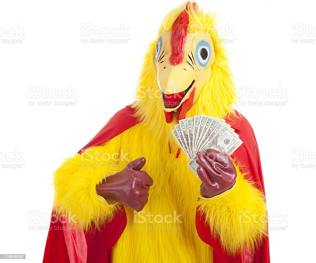 Chicken Man - Rich royalty-free stock photo
