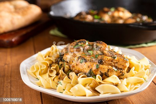Chicken Marsala over Pasta/Noodles