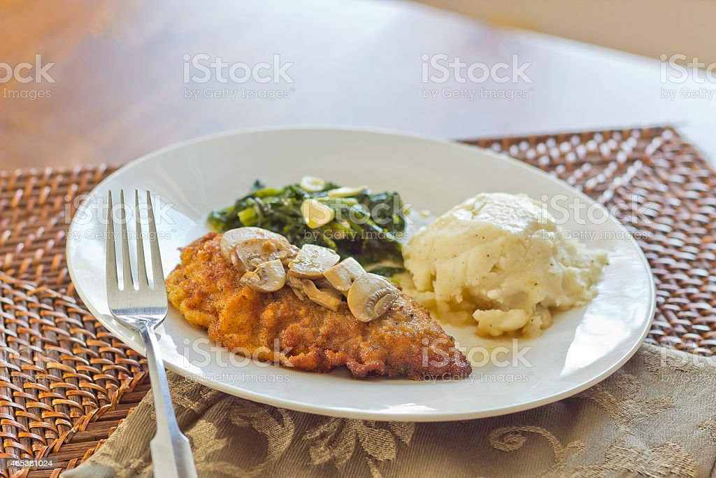 Chicken Marsala stock photo