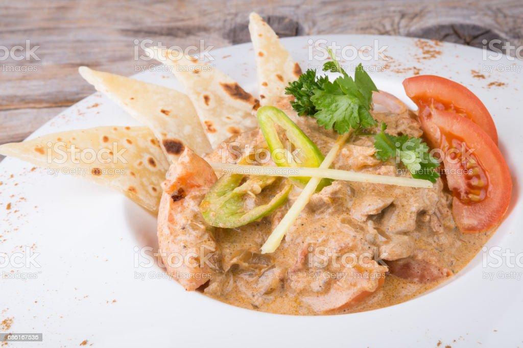 Chicken masala dish stock photo