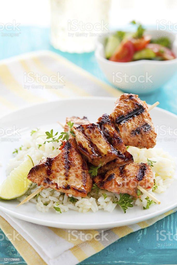 chicken masala skewers royalty-free stock photo