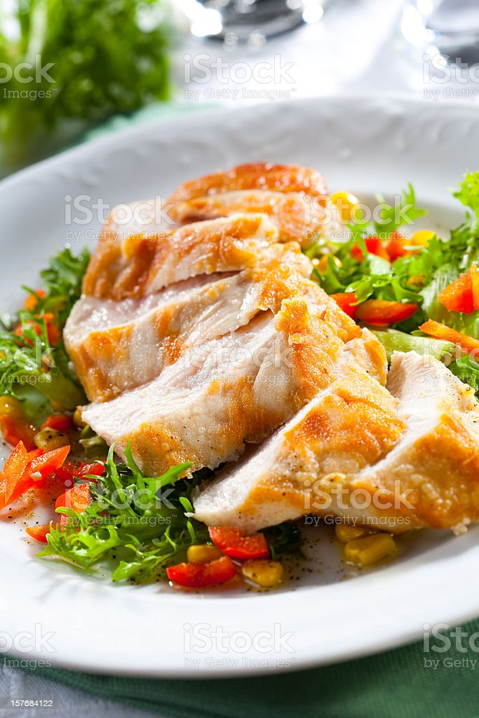 Chicken meal stock photo
