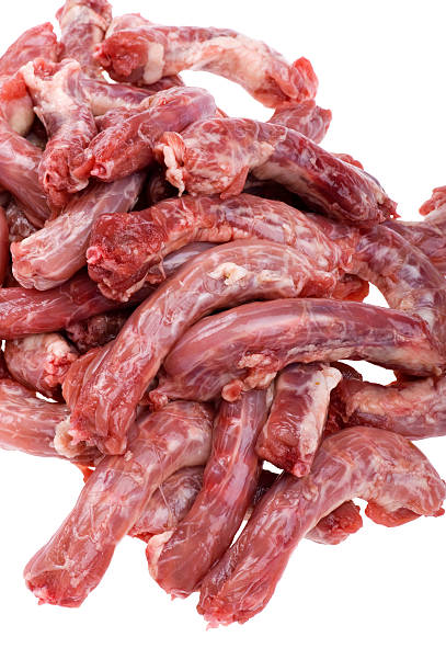 chicken meat on white close up stock photo