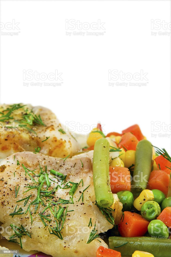 Chicken meat with vegetables royalty-free stock photo
