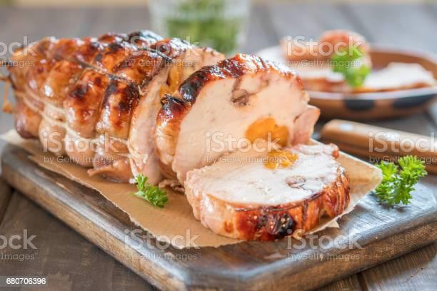 Chicken Meatloaf With Apricots And Nuts Stockfoto und mehr Bilder von Aprikose
