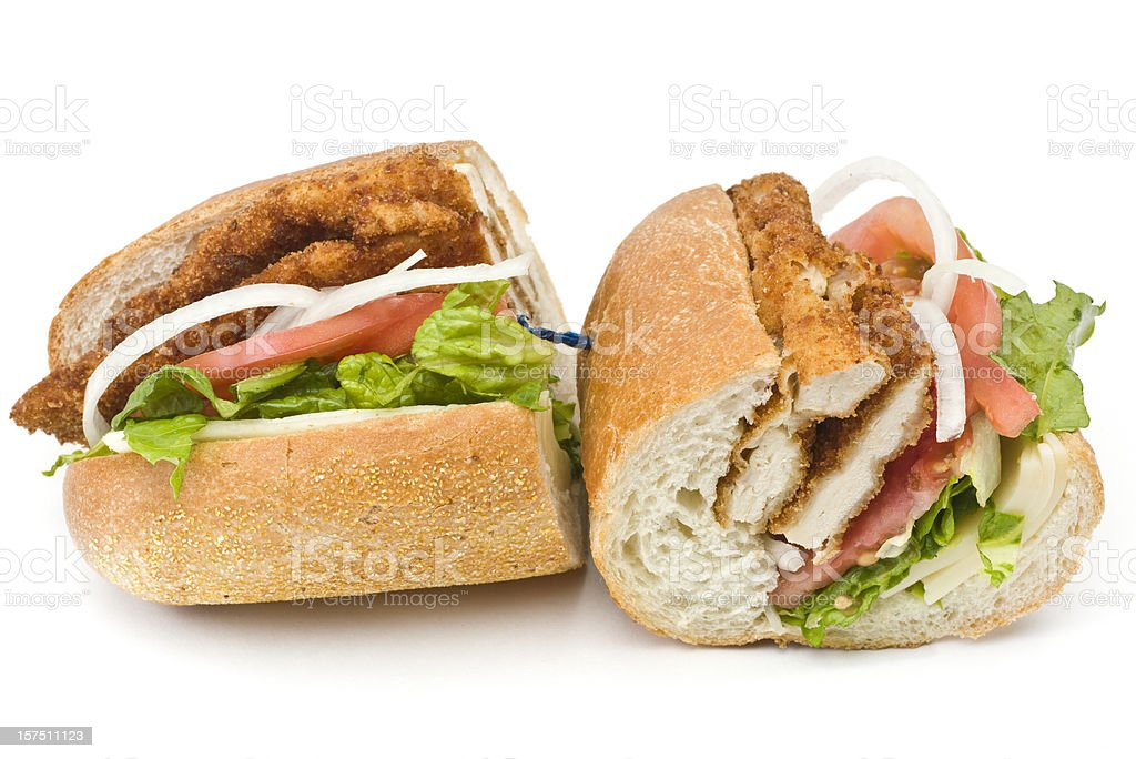 Chicken Milanese Sandwich royalty-free stock photo