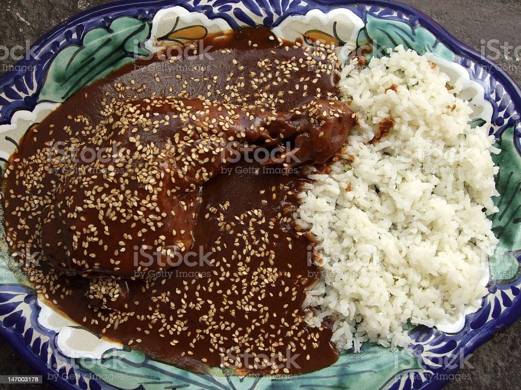 Chicken Mole From Puebla stock photo