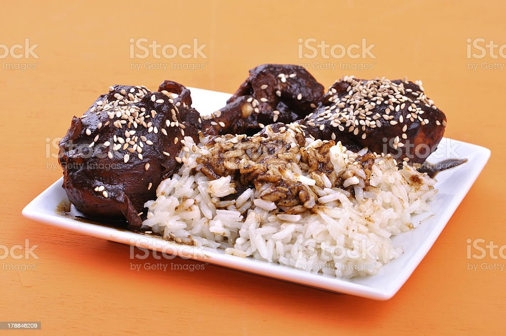 Chicken mole stock photo