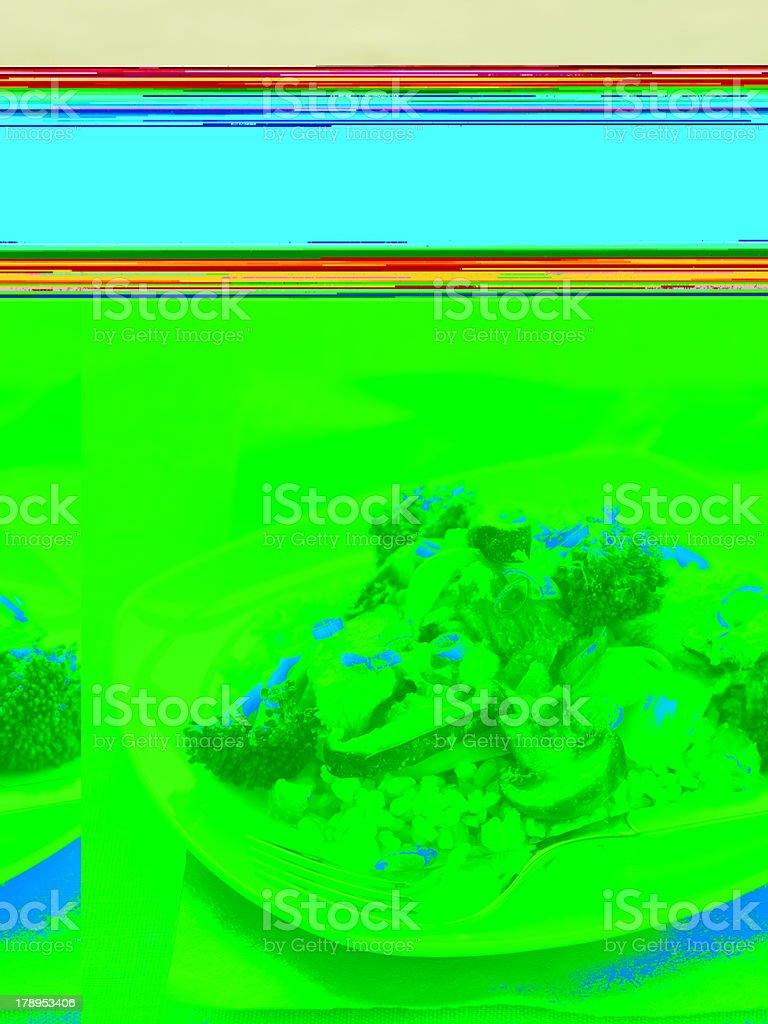 Pollo Stirfry tipo seta - foto de stock