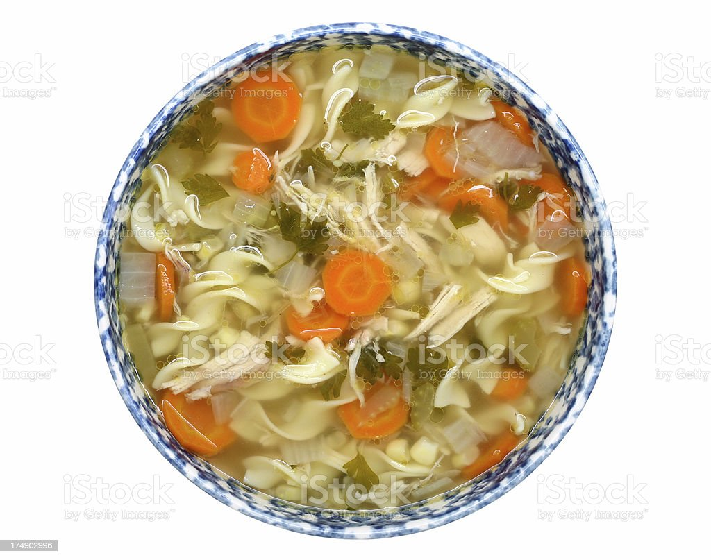 chicken noodle soup stock photo