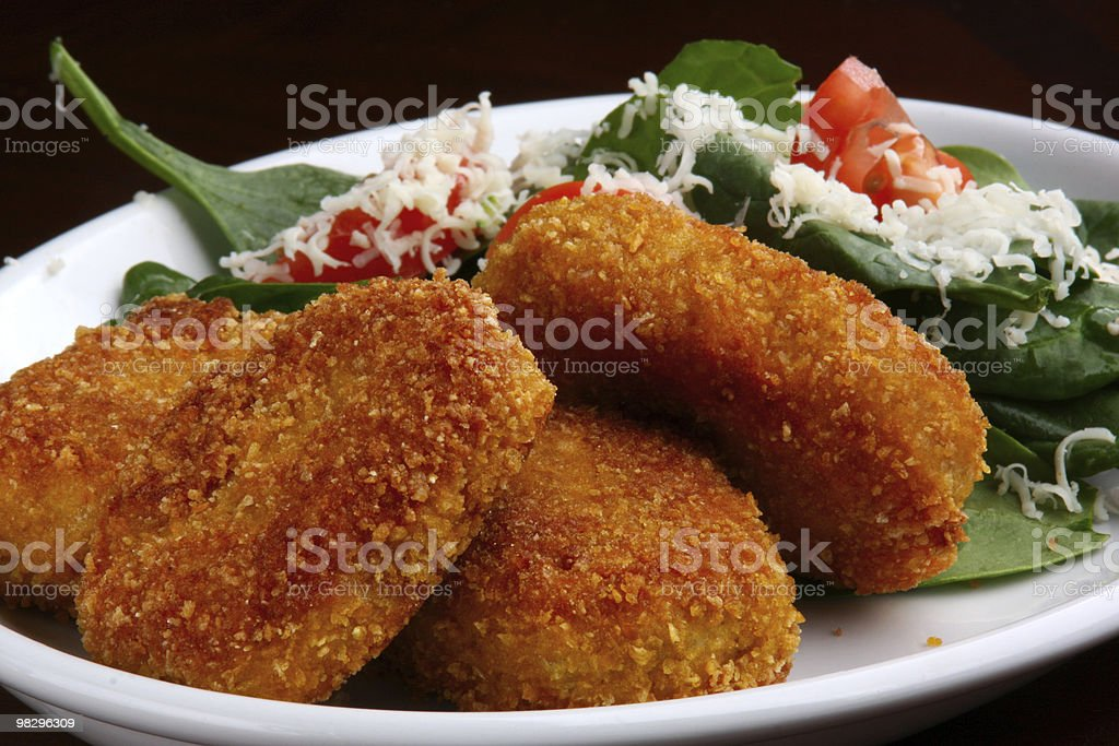 Chicken Nuggets Meal royalty-free stock photo