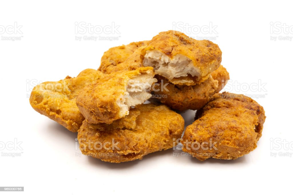 Chicken nuggets on a white background. zbiór zdjęć royalty-free