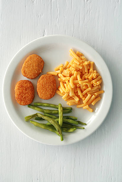 Chicken Nuggets on White stock photo