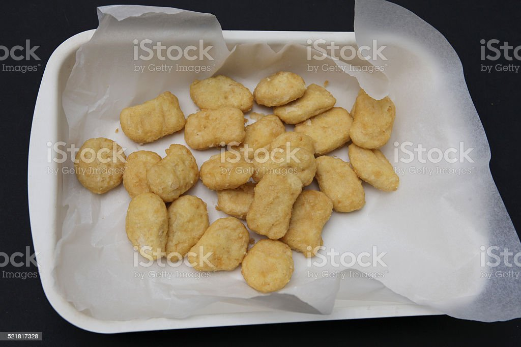 Chicken nuggets. stock photo