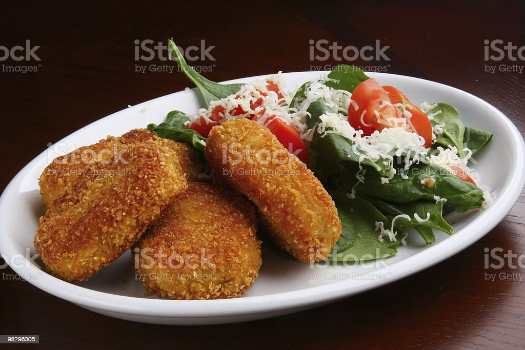 Chicken Nuggets Plate royalty-free stock photo