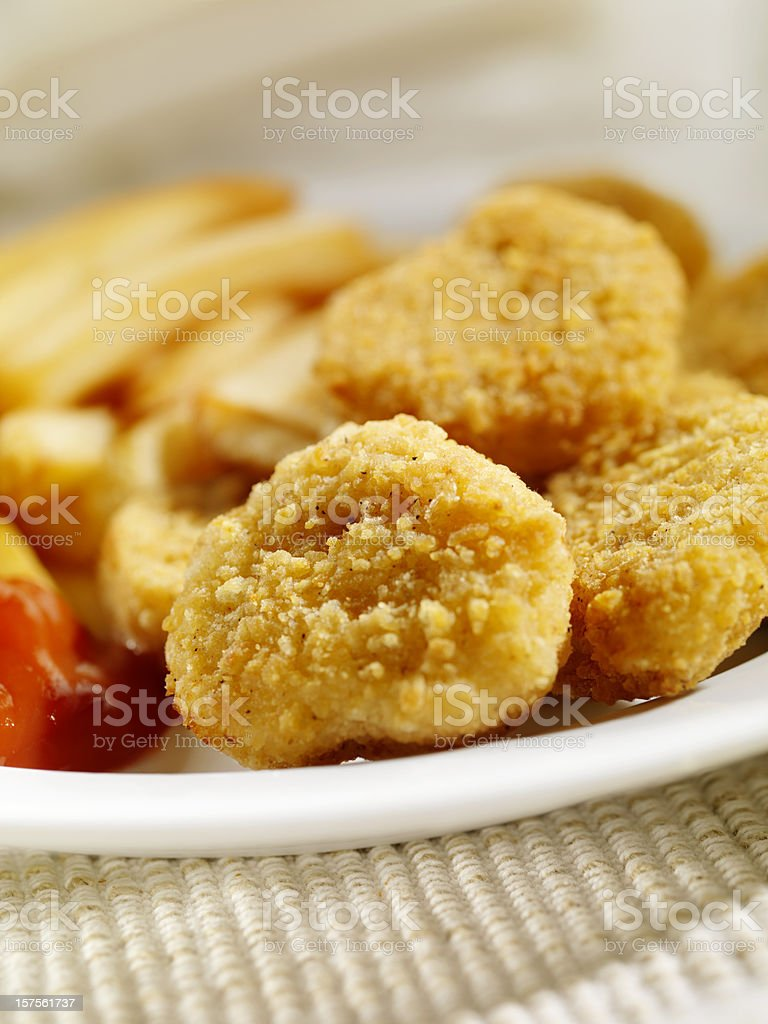 Chicken Nuggets with French Fries royalty-free stock photo