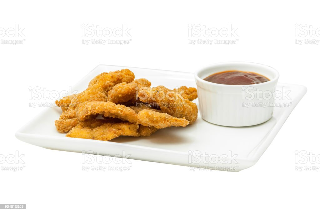 Chicken nuggets with ketchup royalty-free stock photo