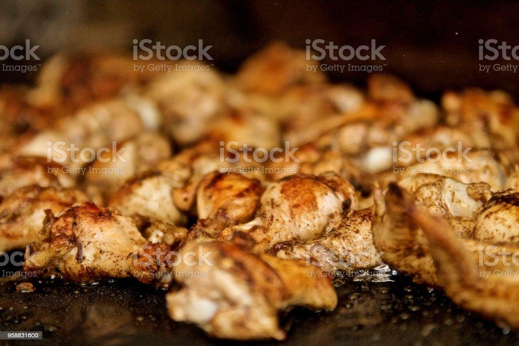 Hähnchen vom Grill – Foto