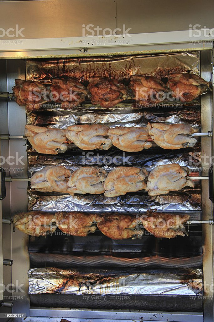 Chicken on the grill stock photo