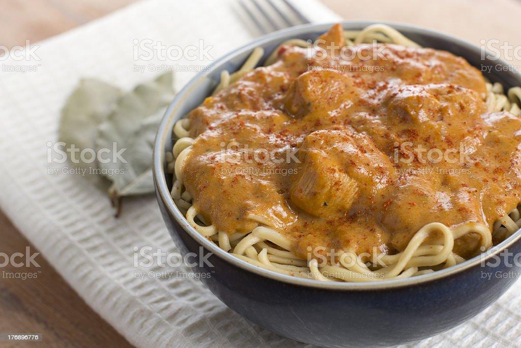Chicken Paprikash stock photo